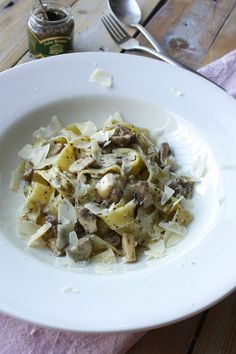 Pappardelle with truffle | Pappardelle met truffel | Recipe on www.francescakookt.nl