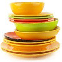 Colorful Dishes and Plates