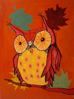 'Quirky Autumn Owl' by Molly Elizabeth