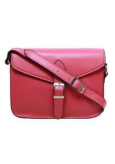 Hot and Fab! ROBYN CROSS BODY LEATHER BAG HOT PINK for $59