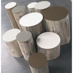 table-basse-en-rondin-de-bois