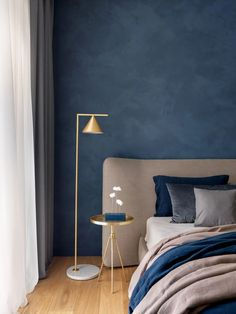 Captain Flint floor lamp – mooielight Flat Interior Design, Home Interior, Contemporary Interior, Luxury Interior, Bedroom Color Schemes, Bedroom Colors, Mountain House Decor, Living Room Decor, Bedroom Decor