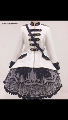 "Military Lolita Thread - ""/cgl/ - Cosplay & EGL"" is imageboard for the discussion of cosplay, elegant gothic lolita (EGL), and anime conventions. Estilo Lolita, Pretty Outfits, Pretty Dresses, Cool Outfits, Punk Rock Outfits, Cute Fashion, Fashion Outfits, Fashion Clothes, Style Fashion"