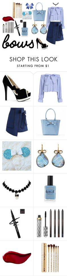 """""""Bowty"""" by sparklingpearl619 on Polyvore featuring Chicwish, Apt. 9, Chassè, Judy Geib, Lauren B. Beauty, Borghese, Kat Von D, Sephora Collection and bows"""