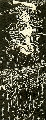 Mermaid by Gail Kelly at AlganArts Siren Mermaid, Mermaid Kisses, Mermaid Tale, Real Mermaids, Mermaids And Mermen, Sirens, Illustrations, Illustration Art, Mermaid Illustration
