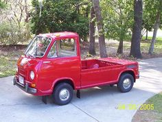 Red Subaru 360 Pickup