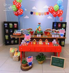 Gabriela E's Birthday / The Three Little Pigs - Photo Gallery at Catch My Party Leo Birthday, Baby Boy 1st Birthday, 3rd Birthday Parties, Birthday Ideas, Kids Party Themes, Birthday Party Decorations, Party Ideas, Cumple Peppa Pig, Pig Party
