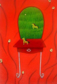나쁜꽃밭 Bad a Flower Garden Naive Art, Acrylic Art, New Art, Garden, Flowers, Garten, Lawn And Garden, Gardens, Gardening