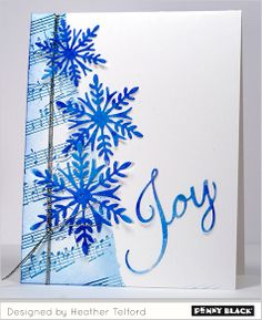 Change the word & this would work for a winter card too. Designed by Heather Telford for Penny Black