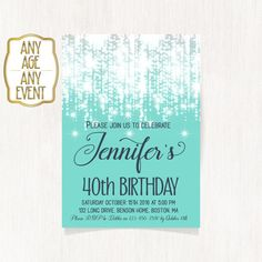 40th birthday invitation Luxury invitation Birthday by CoolStudio