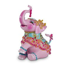 The Hamilton Collection Breast Cancer Support Elephant Figurine: A March of Compassion Colorful Elephant, Grey Elephant, Elephant Art, Elephant Gifts, Elephants Photos, Elephant Tattoo Design, Daisy Painting, Elephant Parade, Elephant Figurines