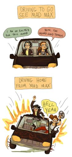 Mad Max: Fury Road, before and after