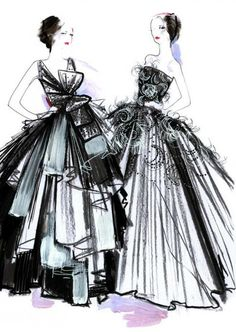 sketch for christian dior haute couture s/s 2012