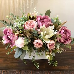 Excited to share this item from my etsy shop: Farmhouse Style Floral Arrangement Spring Flower Arrangements, Artificial Floral Arrangements, Beautiful Flower Arrangements, Floral Centerpieces, Birthday Flower Arrangements, Tall Centerpiece, Centerpiece Wedding, Garden Types, Diy Garden