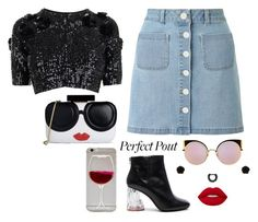 """""""Red Wine Amateurs..."""" by kitkat2243 ❤ liked on Polyvore featuring Miss Selfridge, By Malene Birger, Acne Studios, Lime Crime, Alice + Olivia, Erica Lyons and Fendi"""
