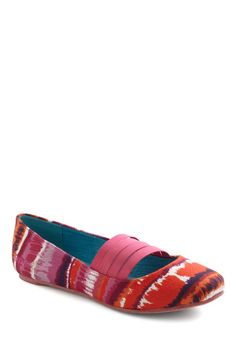 Great little flats for work!  Sunset Palette Flat, #ModCloth