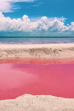 Naturally Pink Lagoon in Mexico Is Like a Real-Life Fairy Tale Dreamscape What color is a lagoon? In the tiny fishing village of Las Coloradas, located on the eastern coast of Mexico's Yucatan Peninsula, it's pink. Places To Travel, Travel Destinations, Places To Visit, Real Life Fairies, Fishing Villages, Baja California, Mexico Travel, Cuba Travel, Mexico Vacation