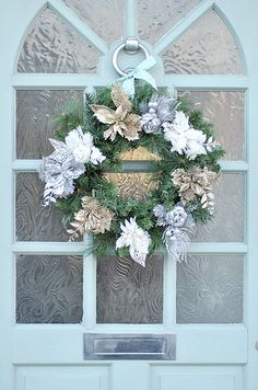 Wreath hung on door | Flickr - Photo Sharing!