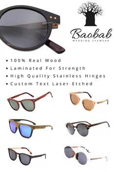 Wooden Sunglasses, Bridesmaids And Groomsmen, Real Wood, Eyewear, Wedding, Fashion, Valentines Day Weddings, Moda, Eyeglasses