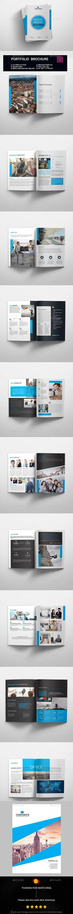 Annual Report Template InDesign INDD Download here   - professional report template