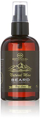 Natural Man Bay Lime Beard Oil  All Natural Beard Conditioner by Botanical Skinworks 4 Ounce ** Click image for more details.