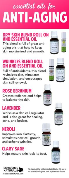Anti aging essential oils are powerful helpers in the battle against aging skin. #aromatherapy