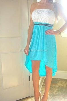 White and blue summer dress  LOVE it UGG fashion This is my dream , Click the link for best price UGG .