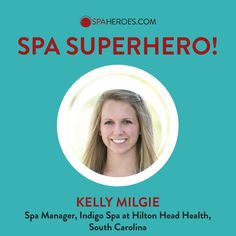 Announcing that Kelly Milgie, H3's own Spa Manager is recognized as a SpaHeroes! #SpaSuperhero
