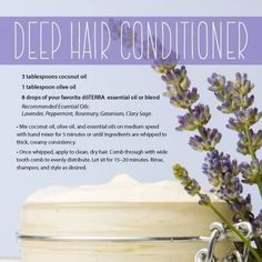 conditioner for hair. Natural. Doterra. Essential oils. Pretty hair ...