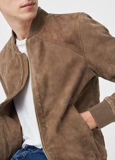 Designer Clothes, Shoes & Bags for Women Suede Jacket, Bomber Jacket, Man Jacket, Leather Jacket, Mens Long Jacket, Long Jackets, Men's Jackets, Mens Fur, Men Closet