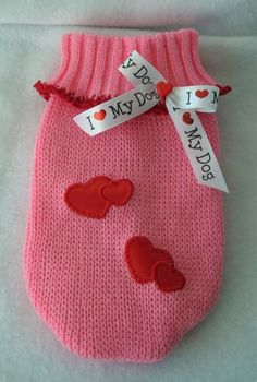 New Pet Clothes XXS Pink Puppy Dog Valentine by LittleDogFashion, $29.99