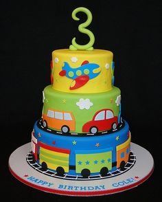 ... Cakes: Boys on Pinterest  Train cakes, Monster cakes and Birthday