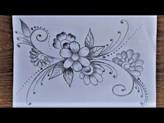 Khalil Art - YouTube Easy Nature Drawings, Easy Scenery Drawing, Oil Pastel Drawings Easy, Easy Drawings, Flower Pattern Drawing, Drawing Flowers, Flower Patterns, Flower Designs, Flower Mandala