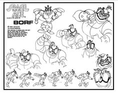 Don Bluth - Character Design Page