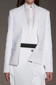 Crisp White Tailoring - layered fashion details // Gabriele Colangelo Spring '15