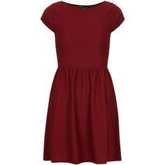 Dorothy Perkins Red slash neck ottoman dress (28 AUD) ❤ liked on Polyvore featuring dresses, vestidos, robe, red, boat neckline dress, short-sleeve dresses, dorothy perkins, red boat neck dress and dorothy perkins dress