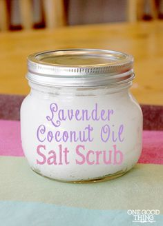 Super easy 3 ingredients lavender salt scrub