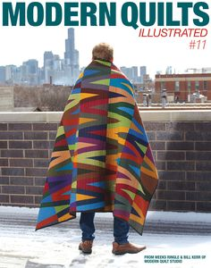 Accordian is the cover quilt for Modern Quilts Illustrated #11