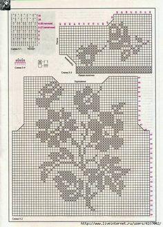 ergahandmade: Croche Vest + Diagrams Crochet Lace Collar, Crochet Tunic, Form Crochet, Crochet Woman, Thread Crochet, Cute Crochet, Crochet Motif, Crochet Designs, Crochet Clothes