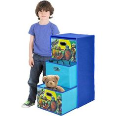 Nickelodeon Teenage Mutant Ninja Turtles Collapsible 3-Drawer Storage