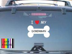 I love my Doberman dog bone choose size & by Teeznstyle on Etsy, $3.99