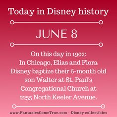 #Disney #DisneyHistory - June 8