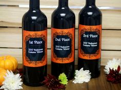 Personalized Wine Label Halloween Wine Gift Costume Contest Custom Wine Bottles, Custom Wine Labels, Personalized Wine Bottles, Halloween Costume Contest, Wine Gifts, Personalized Wine Labels