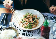 The Broadsheet Cookbook: Chin Chin's Shredded Chicken and Prawns with Vietnamese Slaw and Coriander - Broadsheet