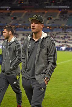 Lukas Podolski at the Germany NT