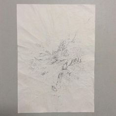 #WORK 006 SEP, 2015 297x210mm #pencil on #paper [tag] #abstract #drawing #beauty #simple #blank #space #void #indication #trace #deficiency #shading #foggy #shabby #vintage #patina #aged #crease #minimal #blur #snow #fade #oxidation #stain #zen #余白 #濃淡 #禅