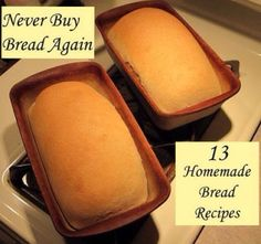 13 #homemade #bread #recipes http://evpo.st/10xaDzp  Shared Source: #diygardenandcrafts