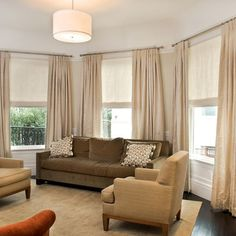 Contemporary Spaces Bay Window Treatments Design, Pictures, Remodel, Decor and Ideas - page 2