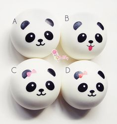 Medium Panda Squishy Bun Charm by UberTiny on Etsy $3.99