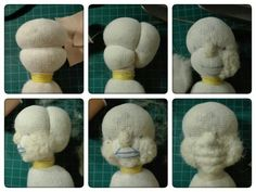 My process, sculpting the head for my waldorf doll